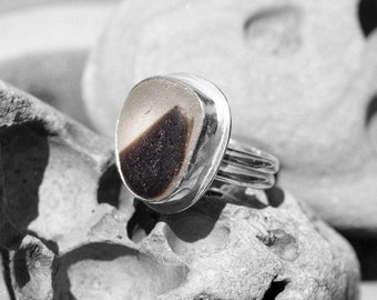 sea glass ring, size 8
