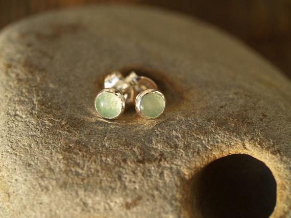 green aventurine ear posts