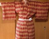 Red Ocher Pattern Kimono