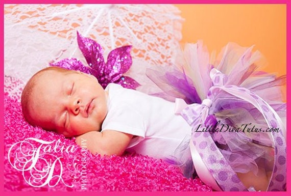 Violet Butterfly Beautiful tutu by Little Diva Tutus Size Preemie - 2T,  Perfect Baby Shower Gift, New Baby tutu. 1st birthday tutu