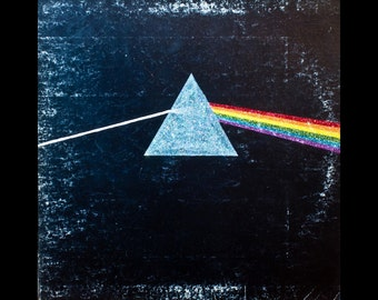 Glittered Pink Floyd Dark Side of the Moon Album