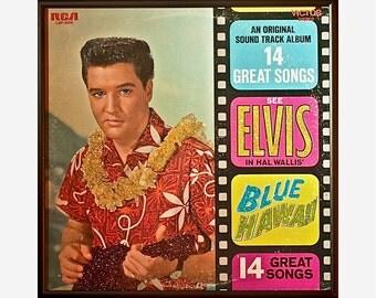 Glittered Elvis Blue Hawaii Album