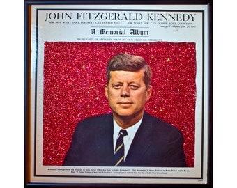Glittered John F Kennedy Album