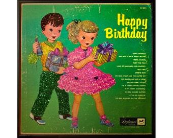 Glittered Happy Birthday Album