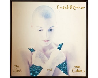 Glittered Sinead O'Connor Lion and the Cobra