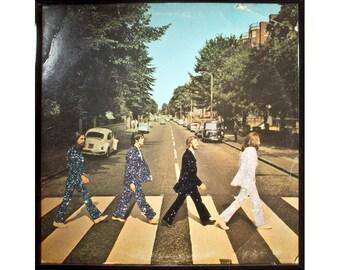Glittered Beatles Abbey Road Album