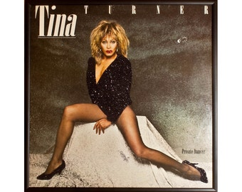 Glittered Tina Turner Private Dancer Album