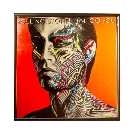 rolling stones tattoo album artwork stone mick lp tattoos glittered record jagger albums covers moves records music etsy tatoo revisit