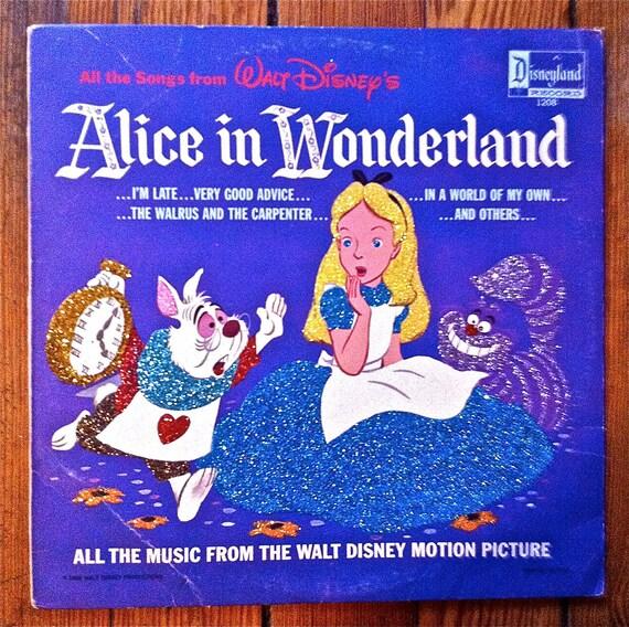 Glittered Alice in Wonderland Album