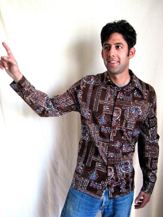Men's Retro Paisley Disco Shirt
