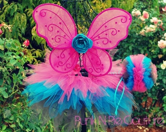 Ella the Enchanted Fairy Costume Triple layer Pixie Tutu Halloween Costume Custom Made Set