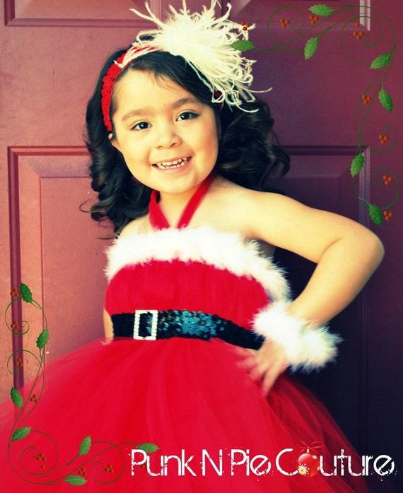 Santa Baby Tutu Dress and Belt 2 piece set