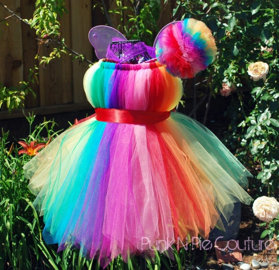 iris the rainbow fairy pixie cut tutu dress halloween costume. Black Bedroom Furniture Sets. Home Design Ideas