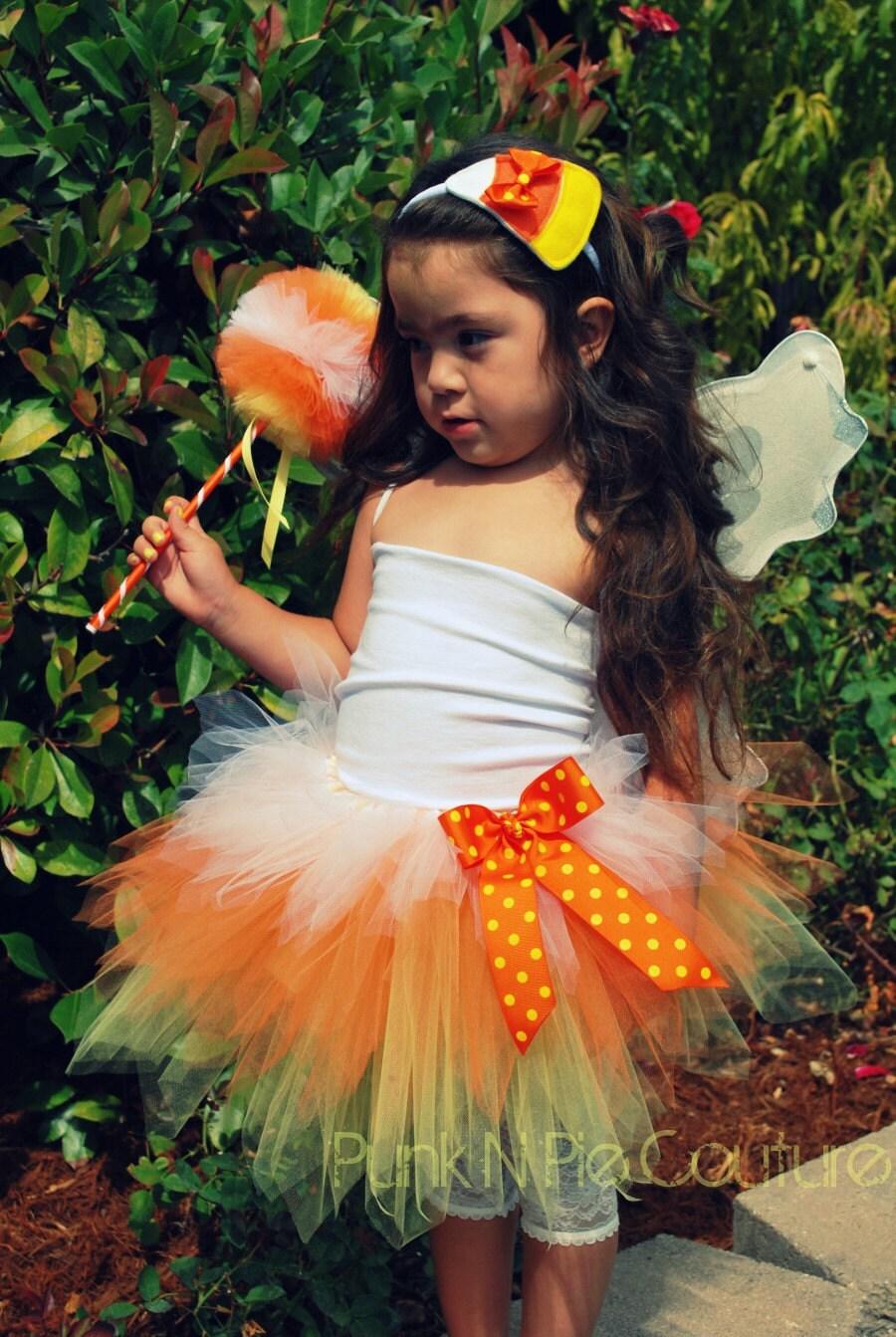 Items Similar To Candy Corn Fairy Tutu Halloween Costume