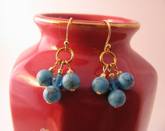 Chic Turquoise  Earrings with Chalk Turquoise