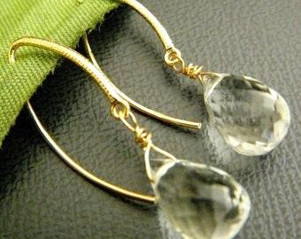 SALES - 20 Percent Off - Simply Green Amethyst 16K Gold Vermeil Earrings