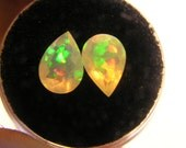 Welo Ethiopian Pear Crystal Faceted Opal PAIR