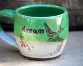 Mug in spring green Handmade  ceramic