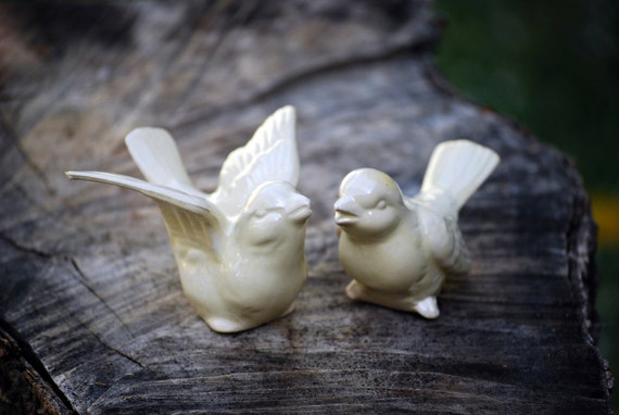 Bird Wedding  cake toppers in yellow
