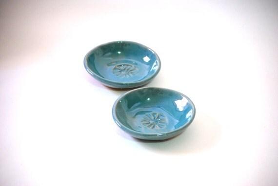 teeny weeny bowls set of two  in aquamarine