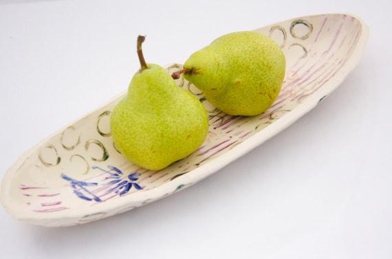 serving platter oval stamped shapes