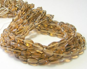 Smokey Topaz Czech Twisted Beads  -  Czech Beads - CZ Glass Light Brown