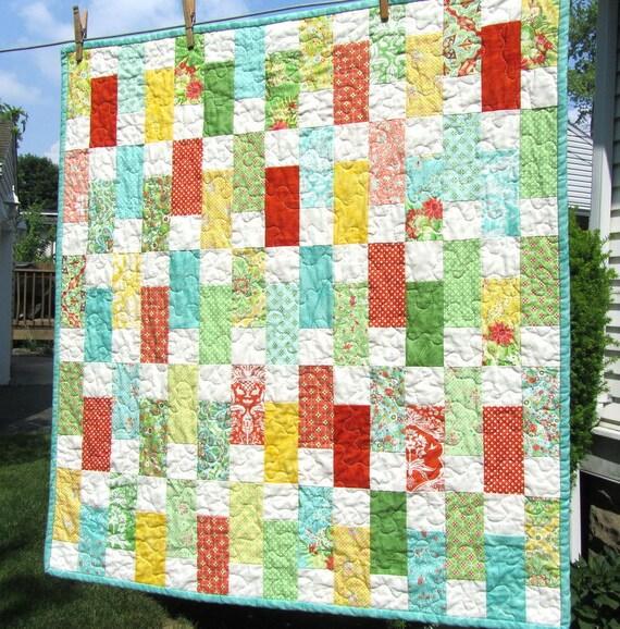 Flora Brick Baby Quilt by Lauren & Jessi Jung for Moda