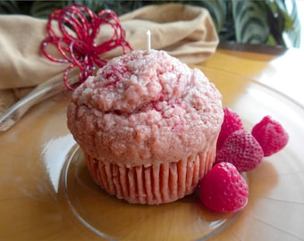 Fresh Baked Strawberry Muffin Candle