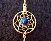 GOLD & LAPIS Dreamcatcher necklace