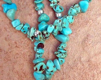 Turquoise Necklace- The Sky stone - turquoise jewelry, turquoise pendant nugget necklace, turquoise
