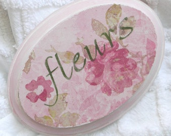 Small Boudoir sign ... fleurs