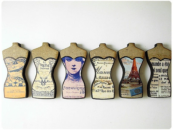 Mini Dressed up Dress Forms - For assemblage or more