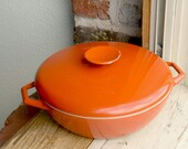 FREE SHIPPING 15% OFF Heavy Copco Michael Lax Design Denmark Casserole Pot - Burnt Orange