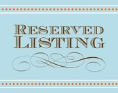 Reserved Listing for Amy