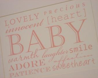 Baby Words Print