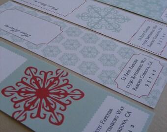 Holiday Envelope Wrap Labels - Set of 25