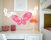 Beautiful Butterfly Large Vinyl Wall Art - Decal Sticker