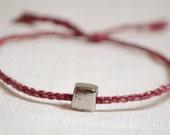 Pink Silk Braid Bracelet