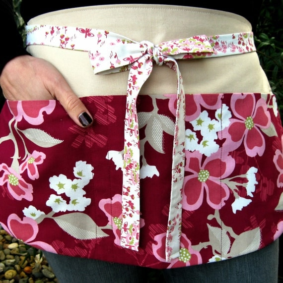 Custom Listing for Marie, Dogwood Utility Apron with Eight Pockets