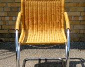 Mid century modern cane chair
