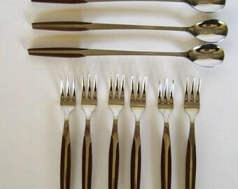 Weldon Danish modern spoons and forks