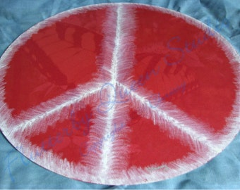 Original Oil Pastel 7 peace sign on recycled matte board - Free Shipping USA