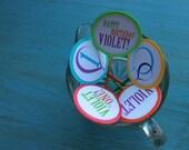10 Colorful Balloons Birthday Party Cupcake Picks