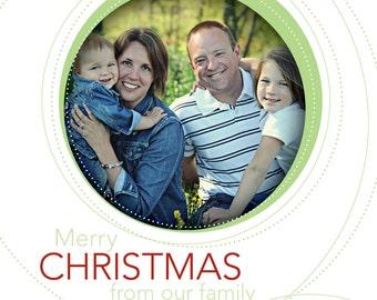 Ornament Holiday Card (Circles)