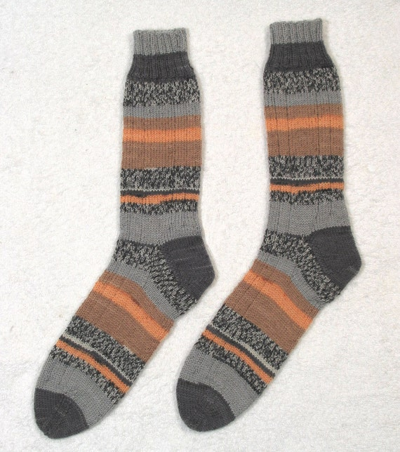 Ladies Womens Socks - Superwash Wool - Hand Knit Medium Sz.-  hand knitted