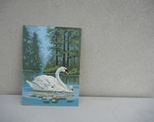 Vintage Swan Paint By Number Painting