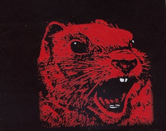 Angry Red Squirrel Union Made patch