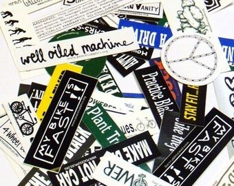 100 bike stickers grab bag