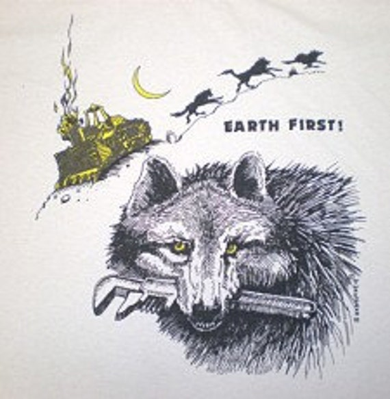 Earth First Wolf T-shirt