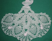 Easter  Bunny  Crocheted  Victorian Crinoline  Lady